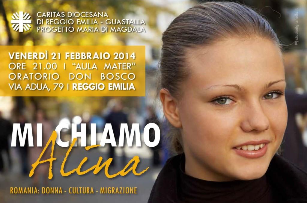 'Mi chiamo Alina' venerdì 21 febbraio oratorio don Bosco Reggio Emilia