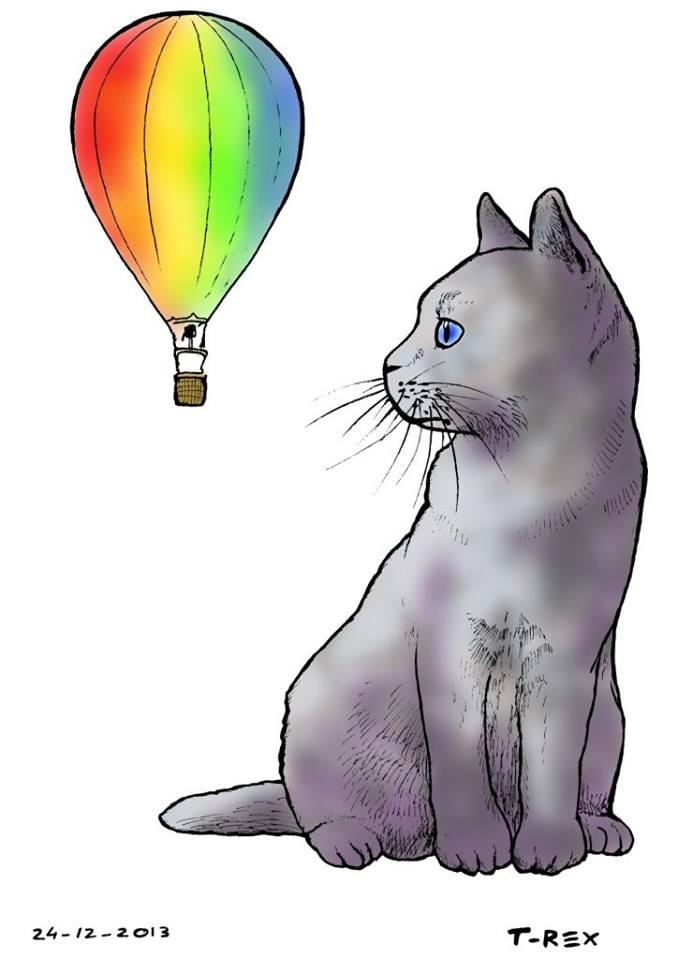 Il gatto Muffa, mascotte del gruppo universitario La Mongolfiera