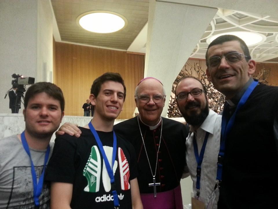 Delegati reggiani con il vescovo Bianchi