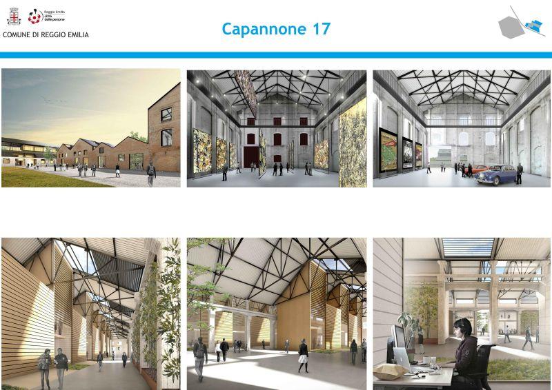 Area ex reggiane parco dell innovazione presentato il for Design contemporaneo capannone