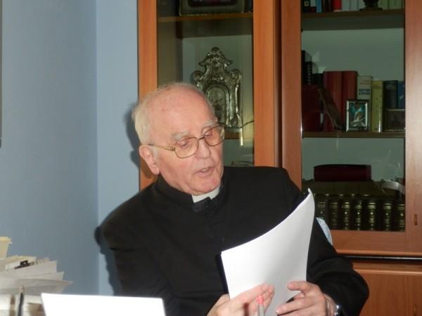 Un'immagine recente (2014) di monsignor Paolo Gibertini, Vescovo Emerito di Reggio Emilia - Guastalla.