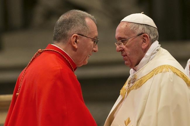 Cardinale-Parolin-e-Papa-Francesco