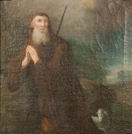 San Francesco da Paola, fondatore dei minimi (tela di anonimo del sec. XVII conservata nell'Oratorio della SS.ma Annunziata in Rubiera)