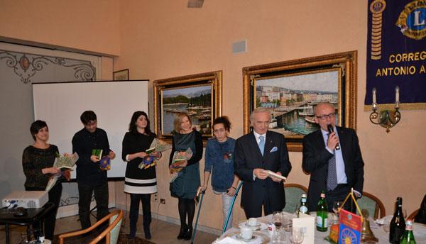 Stefania-Iotti-Fabio-Adani-Sara-Culzoni-Benedetta-Bonfiglioli-Francesco-Messori--Accorsi-e-il-presidente-Lions-Davoli