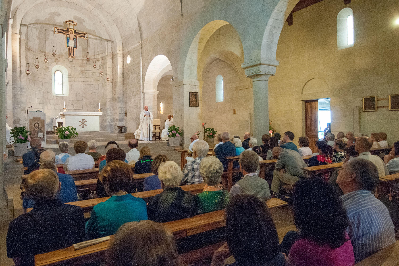 Monsignor Camisasca il 15 agosto 2015 a Marola (foto G.M. Codazzi, tutti i diritti riservati)