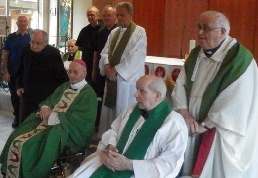 Un momento della celebrazione alla Casa del Clero di Montecchio